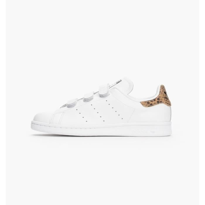 great quality great fit outlet Basket Adidas Stan Smith à Scratch/Velcro Blanc Blanc ...
