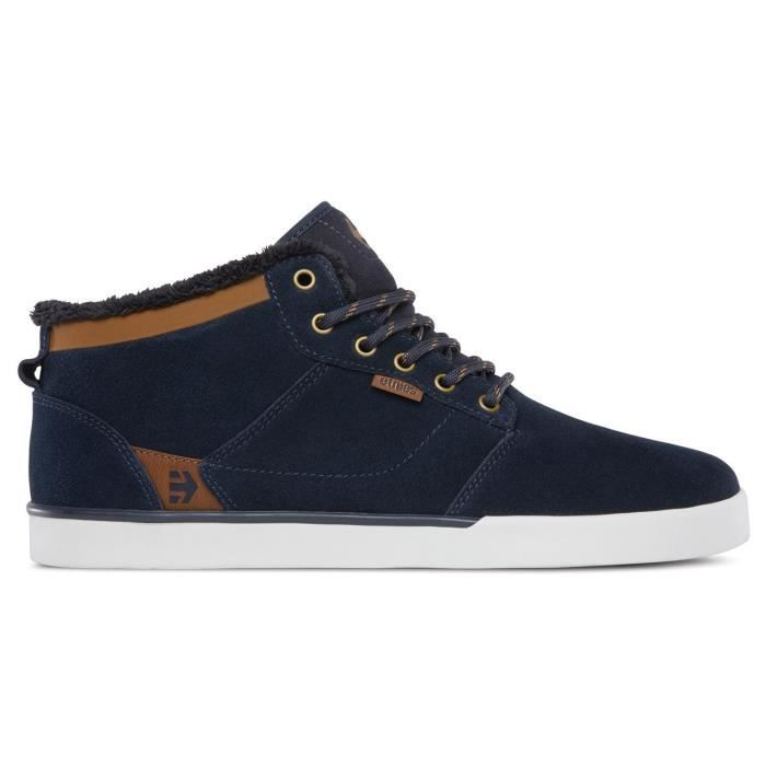 CHAUSSURES ETNIES JEFFERSON MID BLEUES MARRON BLANCHES