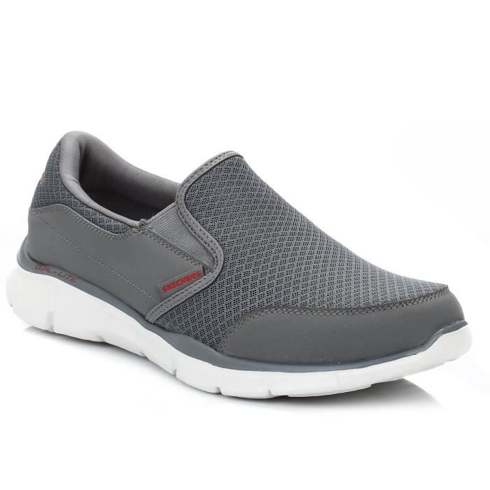 Skechers Homme Charcoal Persistent Equalizer Baskets