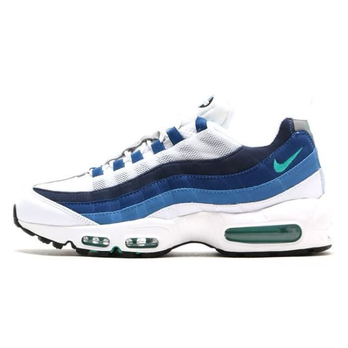 basket nike air max 95 essential femme chaussures de running blanc bleu bleu bleu achat. Black Bedroom Furniture Sets. Home Design Ideas