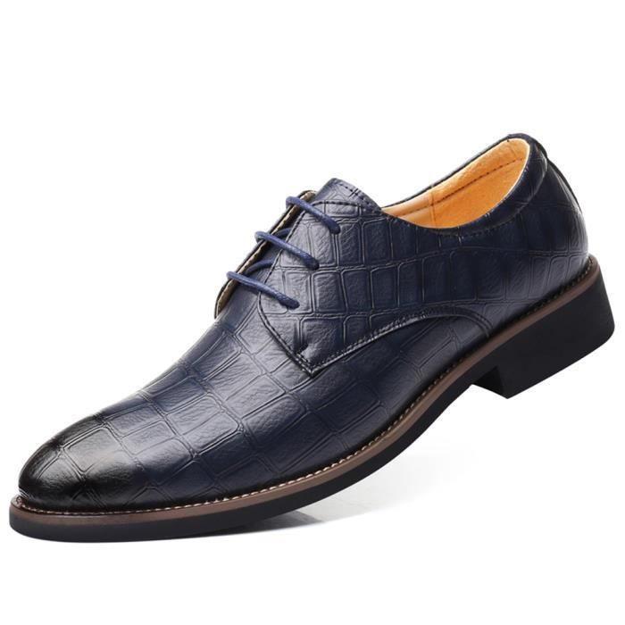 Hommes Casual derbies chaussures en cuir bout pointu mariage formel Business Bureau Chaussures