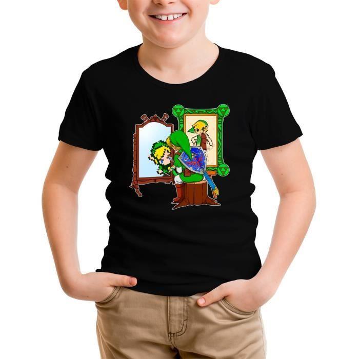 T-SHIRT T-shirt Enfant Noir Zelda parodique Link : Autopor