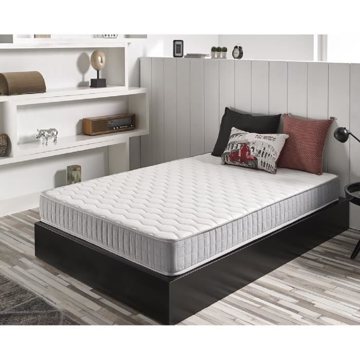 matelas detente 140x190 cm mousse m moire de forme blue latex 7 zones double face. Black Bedroom Furniture Sets. Home Design Ideas