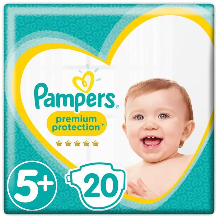 Pampers Premium Protection Taille 5 13 25 Kg 20 Couches Achat