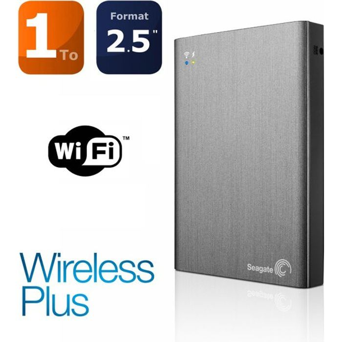 seagate 1to wireless plus disque dur externe prix pas. Black Bedroom Furniture Sets. Home Design Ideas