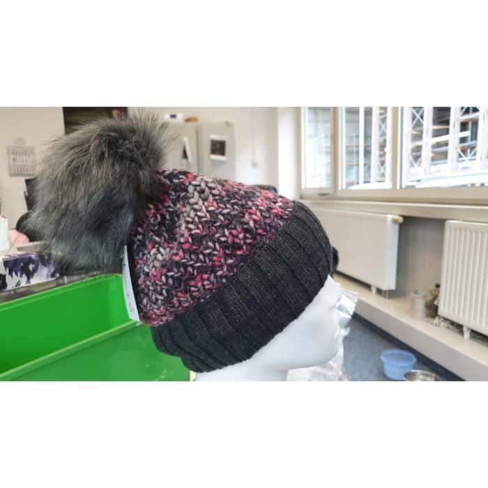BONNET - CAGOULE styleBREAKER bonnet pour femmes en maille avec pom