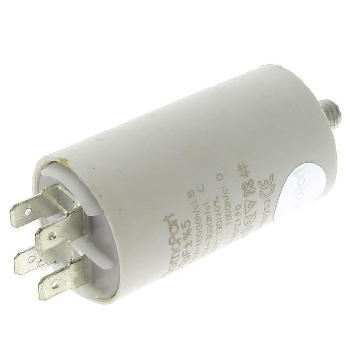 PIÈCE LAVAGE-SÉCHAGE  Condensateur 10µf 400v pour Lave-linge Bosch, Sec