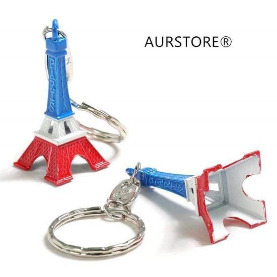 AURSTORE Porte-cl/é Tour Eiffel 6pcs Couleur Cadeaux Souvenir Paris France