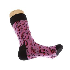 Happy Socks-Crazy Dot chaussettes-rose xmix08-6000 NEUF /& neuf dans sa boîte 41-46