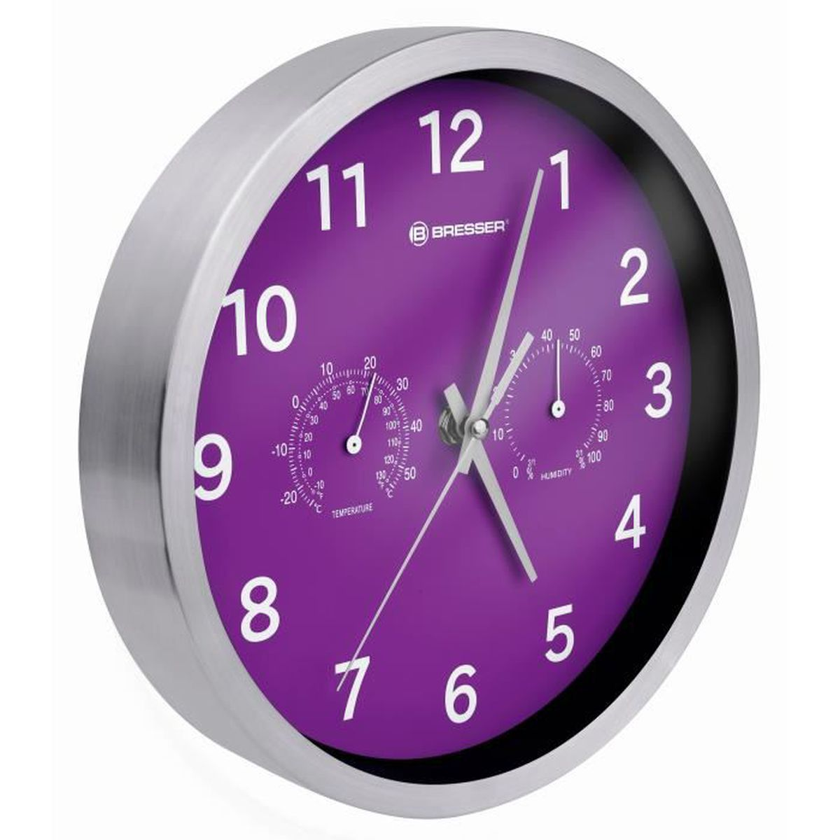 horloge murale violet achat vente horloge murale violet pas cher cdiscount. Black Bedroom Furniture Sets. Home Design Ideas