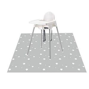 Tapis lavable pour chaise haute Housse de protection anti-d/érapante pour b/éb/é Splat Coussin de protection de plancher Cartoon pour la maison
