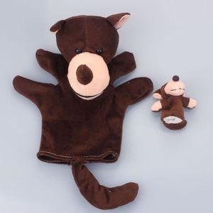 POUPÉE 2pcs loup doigt marionnette enfant jouets en peluc