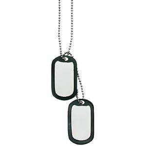 COLLIER HOMME Armée 55 cm Soldat Pendentif Plaque GI DOGTAG MILITAIRE ACIER Neuf