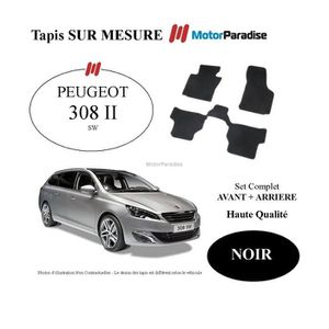 tapis sur mesure peugeot 308 sw 04 2008 09 2013 noir achat vente tapis de sol tapis. Black Bedroom Furniture Sets. Home Design Ideas