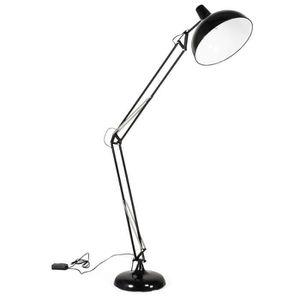 LAMPADAIRE DOM - Lampadaire design architecte noir - H188cm