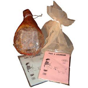 SAC DE CONSERVATION Sac à jambon Ecru Dimensions intérieure 65x75cm