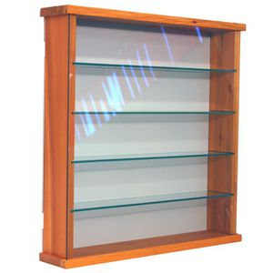VITRINE - ARGENTIER EXHIBIT Vitrine en pin 4 étagères en verre