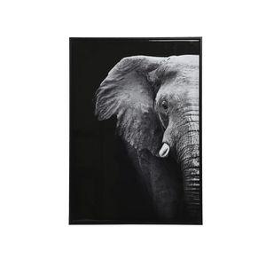 TABLEAU - TOILE Tableau satiné Éléphant - Nos Envies Déco Gris