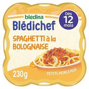 PLATS PRÉPARÉS VIANDE BLEDICHEF Spaghettis bolognaise 230g