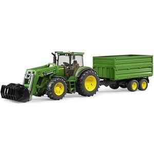 VOITURE - CAMION BRUDER - Tracteur JOHN DEERE 7930 avec fourche et