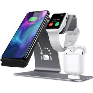 CHARGEUR TÉLÉPHONE [3en1] Qi Rapide Chargeur Dock Sans Fil pour iPhon
