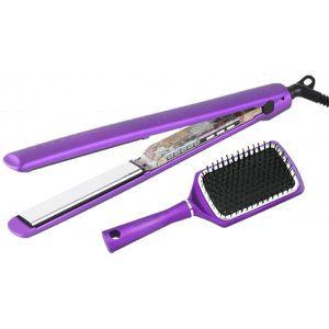 FER A LISSER Coffret Lisseur C3 Ethnic Métallic purple signé