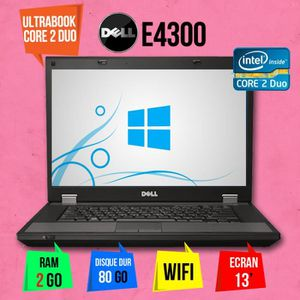 ORDINATEUR PORTABLE ULTRABOOK DELL LATITUDE E4300 13 POUCE CORE 2 DUO
