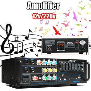 AMPLI HOME CINÉMA NEüFU Amplificateur 1200W Audio Stéréo Hi-Fi Réver