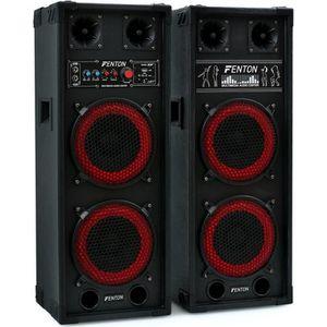 ENCEINTE ET RETOUR Skytec SPB-28 PA Pack Enceintes Amplifiées • 800W
