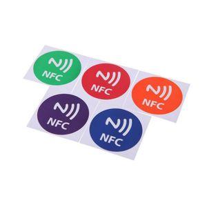 STICKER TÉLÉPHONE 5pcs Mignon NFC Tags Autocollants intelligentes po