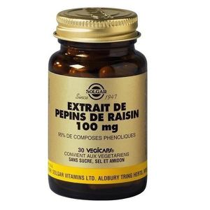 CHOLESTÉROL - TENSION Extrait de Pépins de Raisins 100 mg - 30 gélules