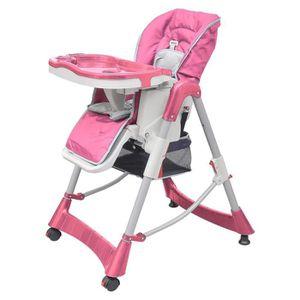 CHAISE DE BUREAU Chaise haute Deluxe et Réhausseur bébé couleur Ros