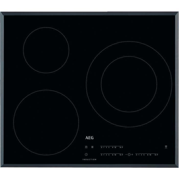 AEG IKB63402FB, Intégré, Plaque avec zone à induction, Noir, 2500 W, Rond, 14,5 cm