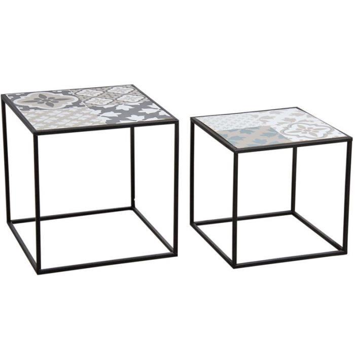 Tables gigognes mosaÏque - Noir