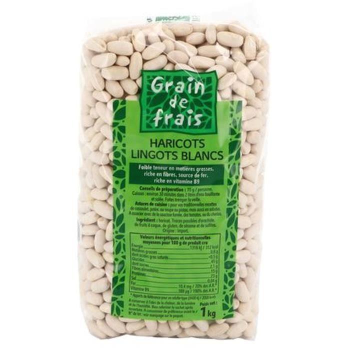 Haricot lingot blanc - Grain de Frais - paquet de 1kg