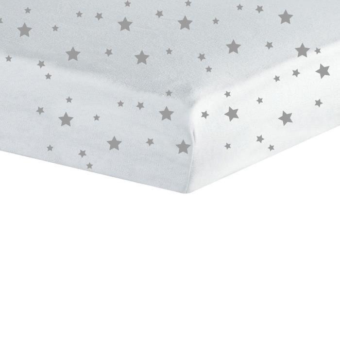 TROIS KILOS SEPT Drap housse - 60x120 cm - Etoiles