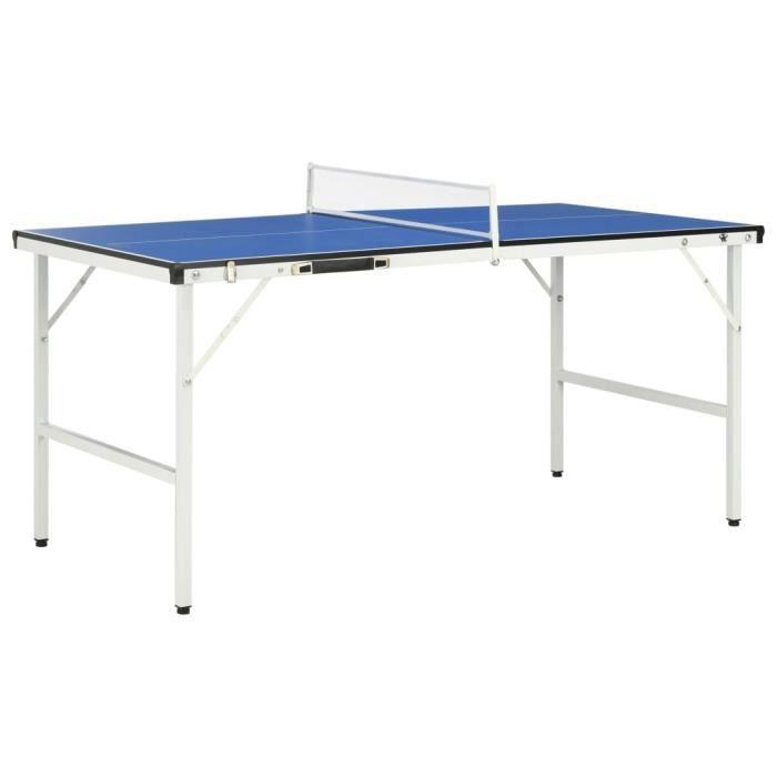 Table de ping-pong avec filet 152x76x66 cm Bleu