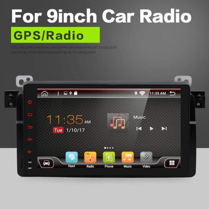 YUNTX Android 8.0 Autoradio pour BMW E46- M3 - 3 series(1998-2005) - GPS 2 Din - Canbus - 9 pouces - Écran tactile LCD - 2GB ROM