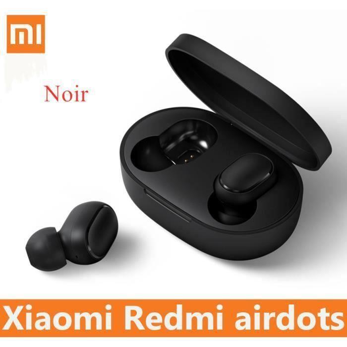 Xiaomi Redmi AirDots TWS Ecouteurs Bluetooth 5.0 Sans Fi avec Micro Sport Étanche Casque -3.5mm - Noir