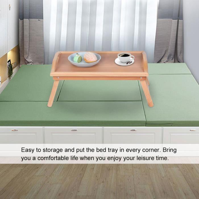 Table basse multifonctionnelle de ménage petite table de thé de casse-croûte d'extrémité latérale en bois meubles d'extérieur -ABI