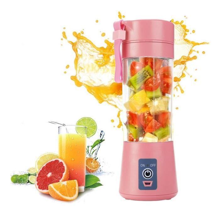 Mini Blender des Smoothies Presse-agrumes électriquesMixeur des Fruits Portable Blender à Smoothie et Milk-shake Rose