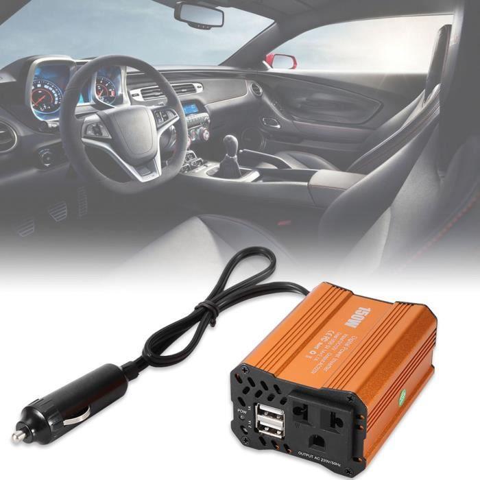 Duokon Car Power Inverter,150W Car Power Inverter Converter DC 12V to AC 220V Adapter Dual USB Charging Port