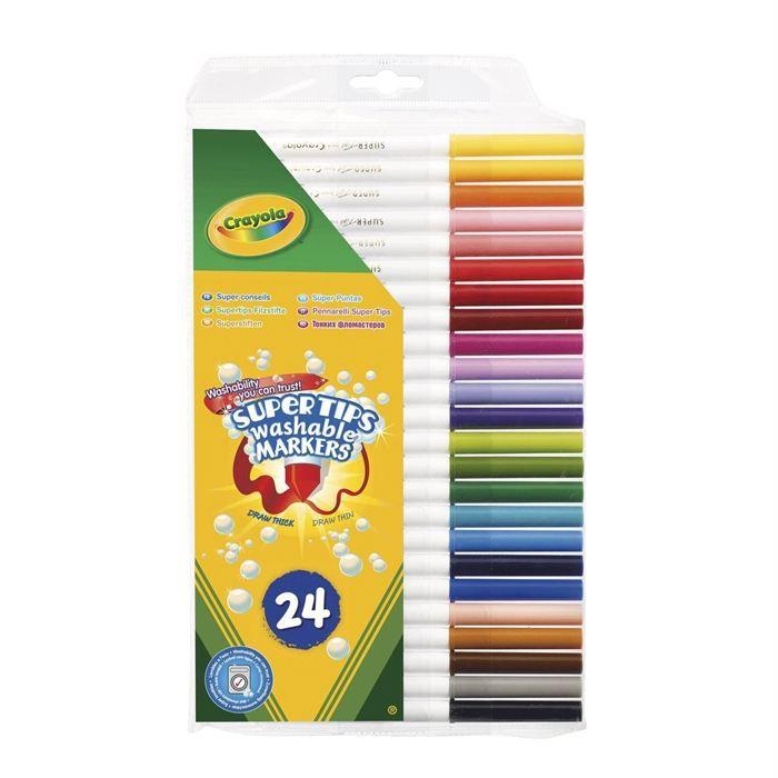 24 Feutres à dessiner Crayola