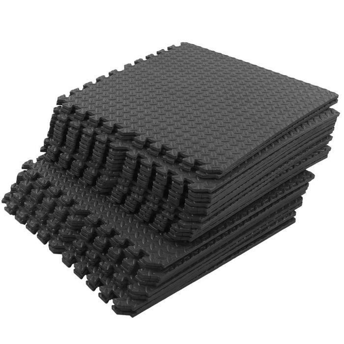 CDP-Tapis en mousse 24 pièces - ensemble tapis de mousse de Puzzle de verrouillage tapis de sol de gymnastique tapis d'exercice