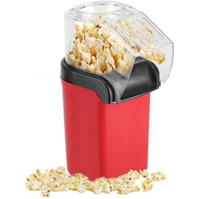 Machine à pop-corn, machine à pop-corn automatique de 1200 W pour la maison, conception de gros calibre, sans graisse