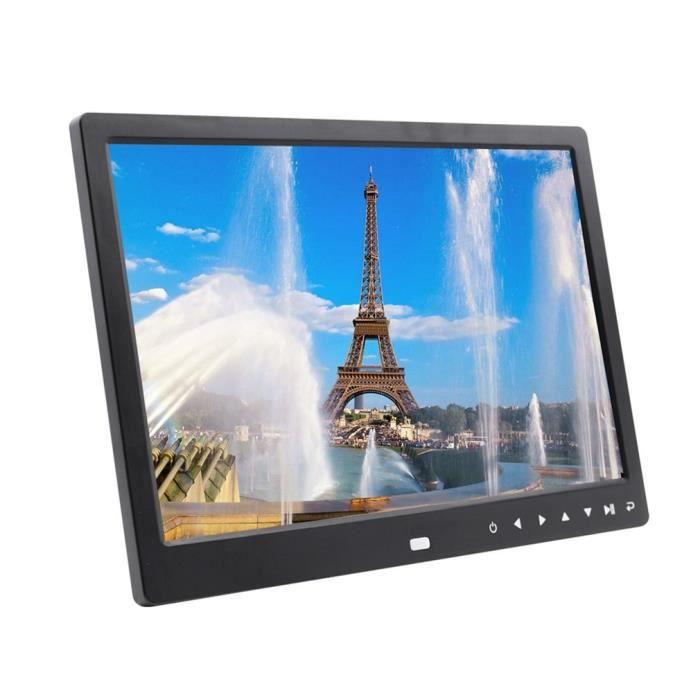cadre photo numérique 12 pouces noir 1280 * 800 touche tactile télécommande sans fil