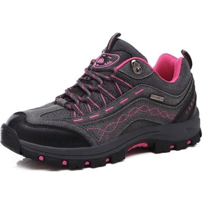 Chaussures d'alpinisme femmes sports chaussures randonnée - Gris