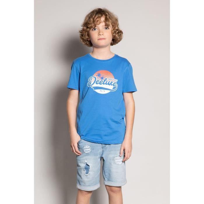 DEELUXE T-shirt col rond logoté TRIBU Blue