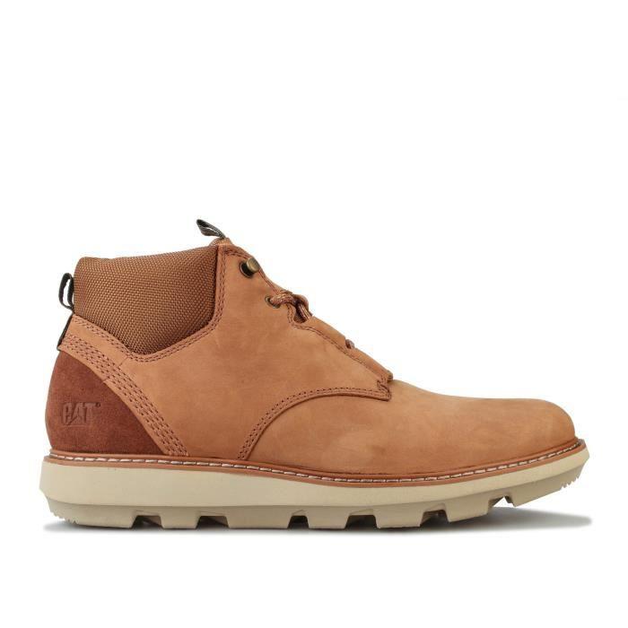 Boots Caterpillar Brusk Lace Pour Homme En Marron.