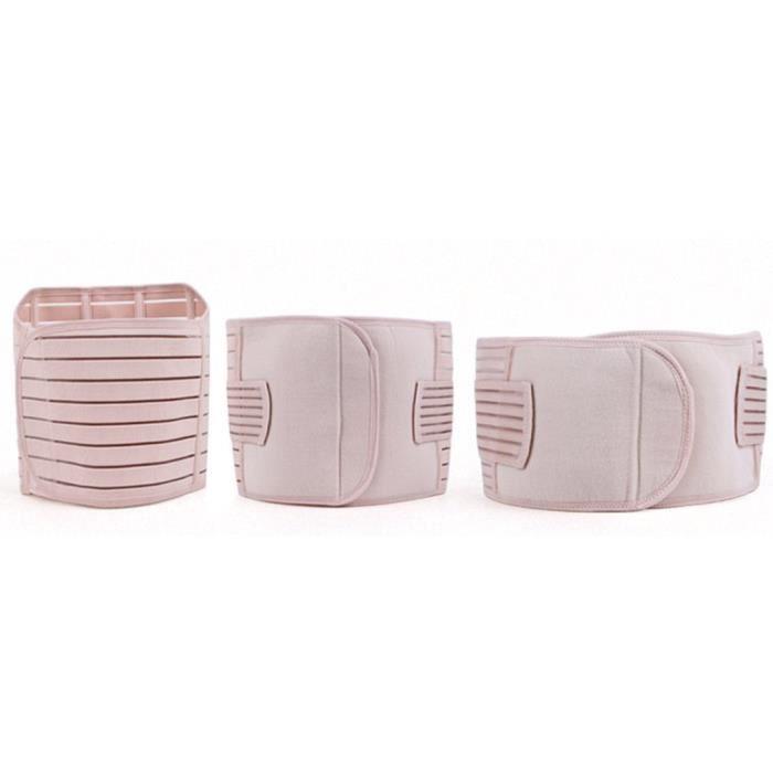 3 pièces - ensemble Portable récupération post-partum ventre ventre taille minceur Shaper Wrapper ceinture XXL